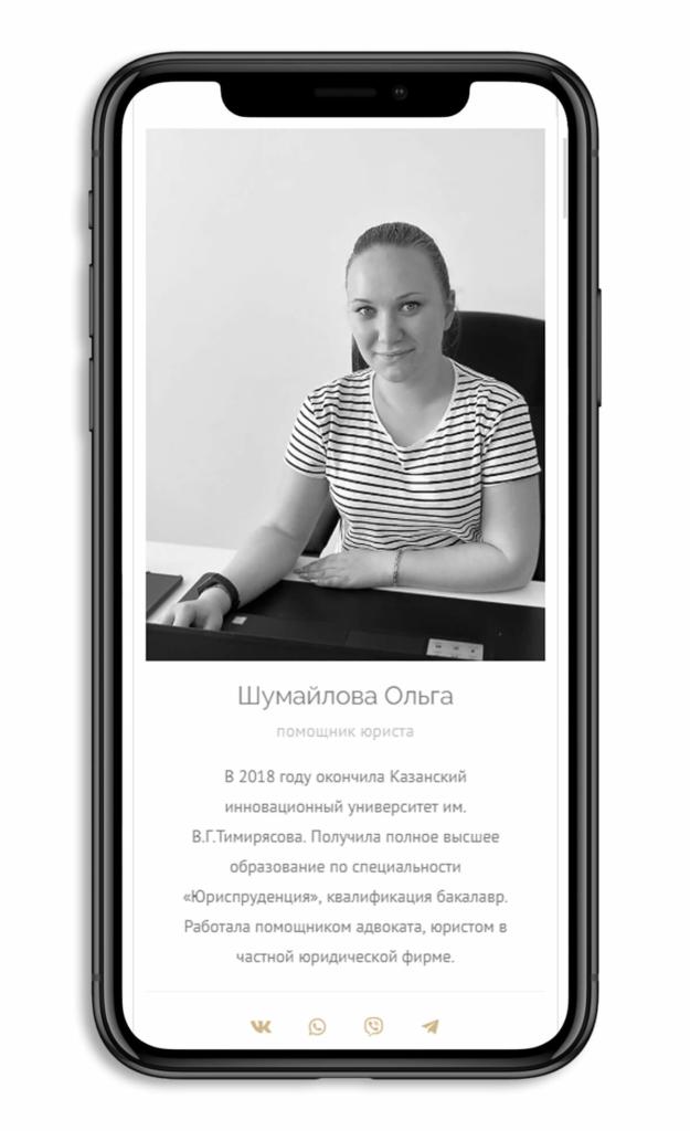 """Корпоративный сайт """"Деловой Крым"""" мобильная версия 1"""