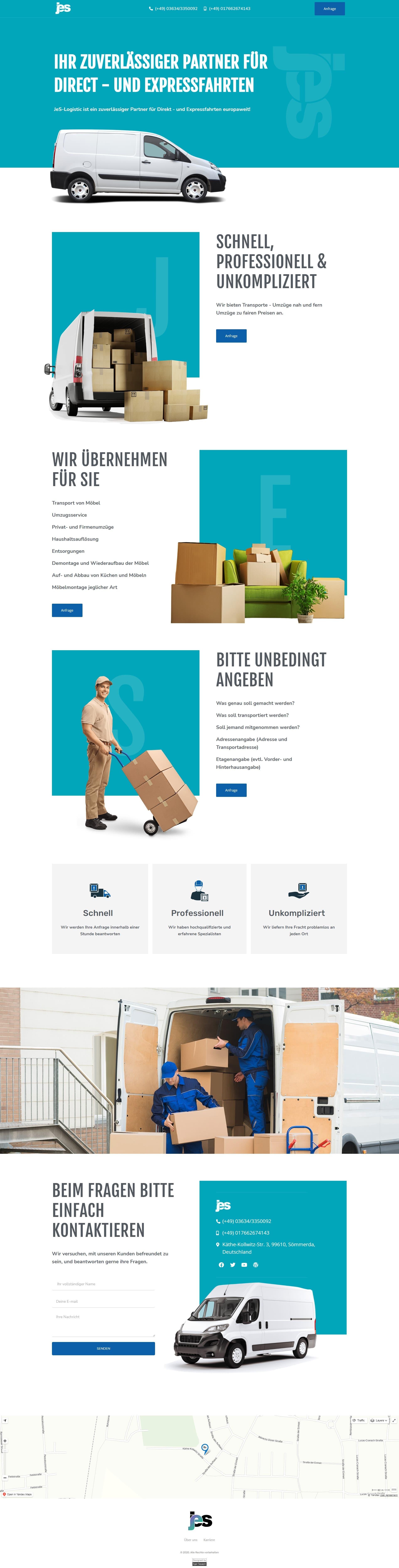 "Лендинг ""JeS-Logistic"""